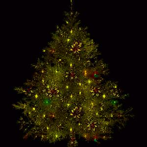 lighted Christmas tree